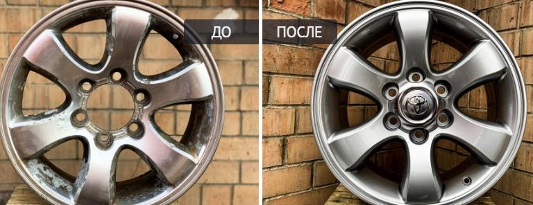 Как выполняется покраска литых дисков